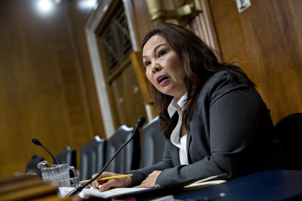 Sen. Tammy Duckworth, D-Ill., will become the first senator to give birth while in office.