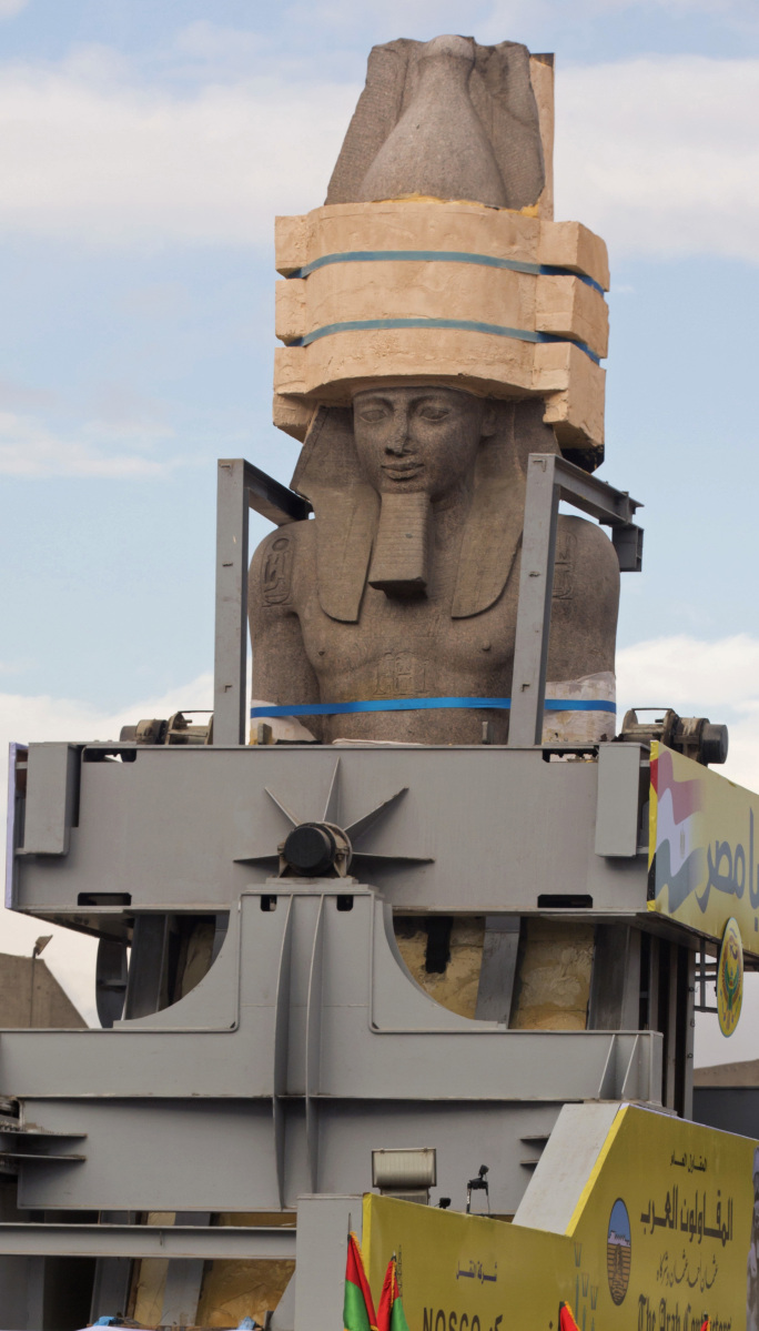 World Of Wheels Boston >> Ramses II statue moved to new site in Egypt - Portland ...
