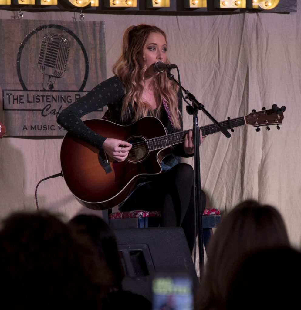 Kalie Shorr performing at the Listening Room Cafe in Nashville Jan. 22.