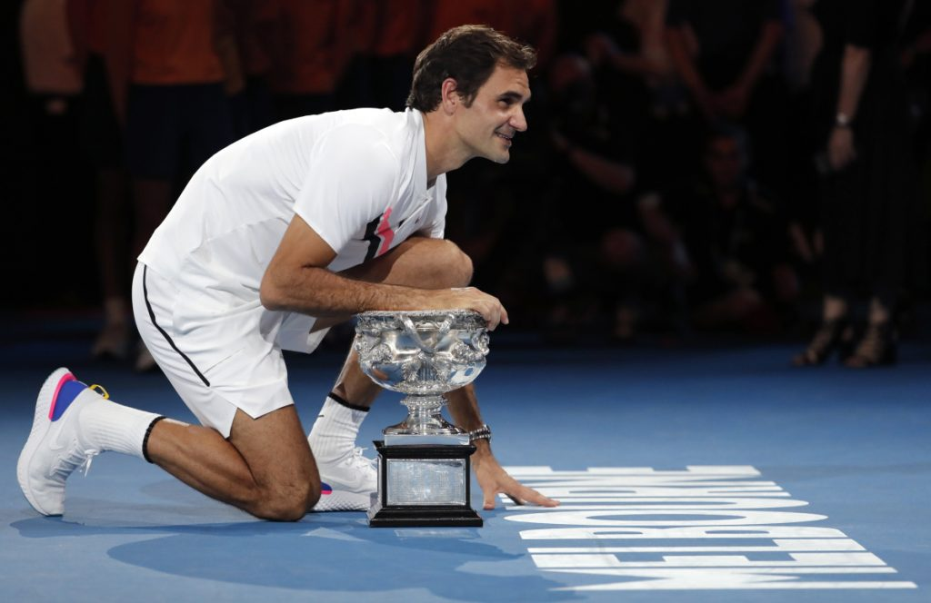 With a five-set victory over Marin Cilic, Roger Federer now has six Aussie Open championships among his 20 Grand Slam titles.