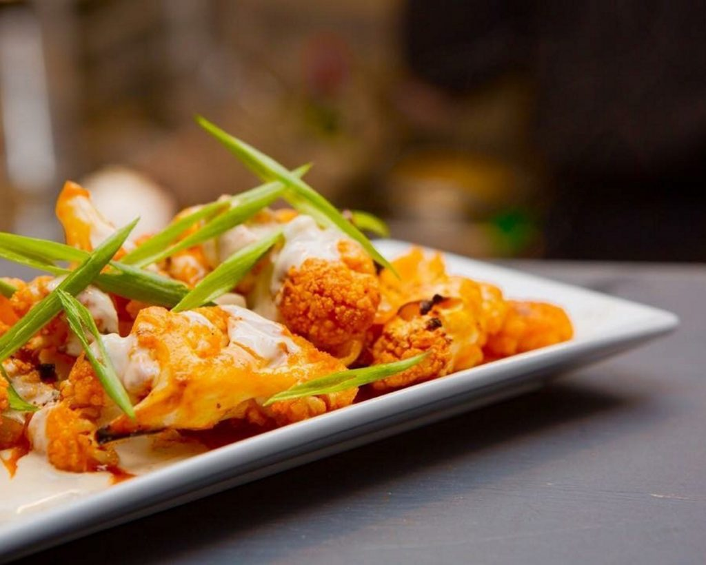 Buffalo cauliflower is one of the best-selling appetizers at the Owl & Elm in Yarmouth.