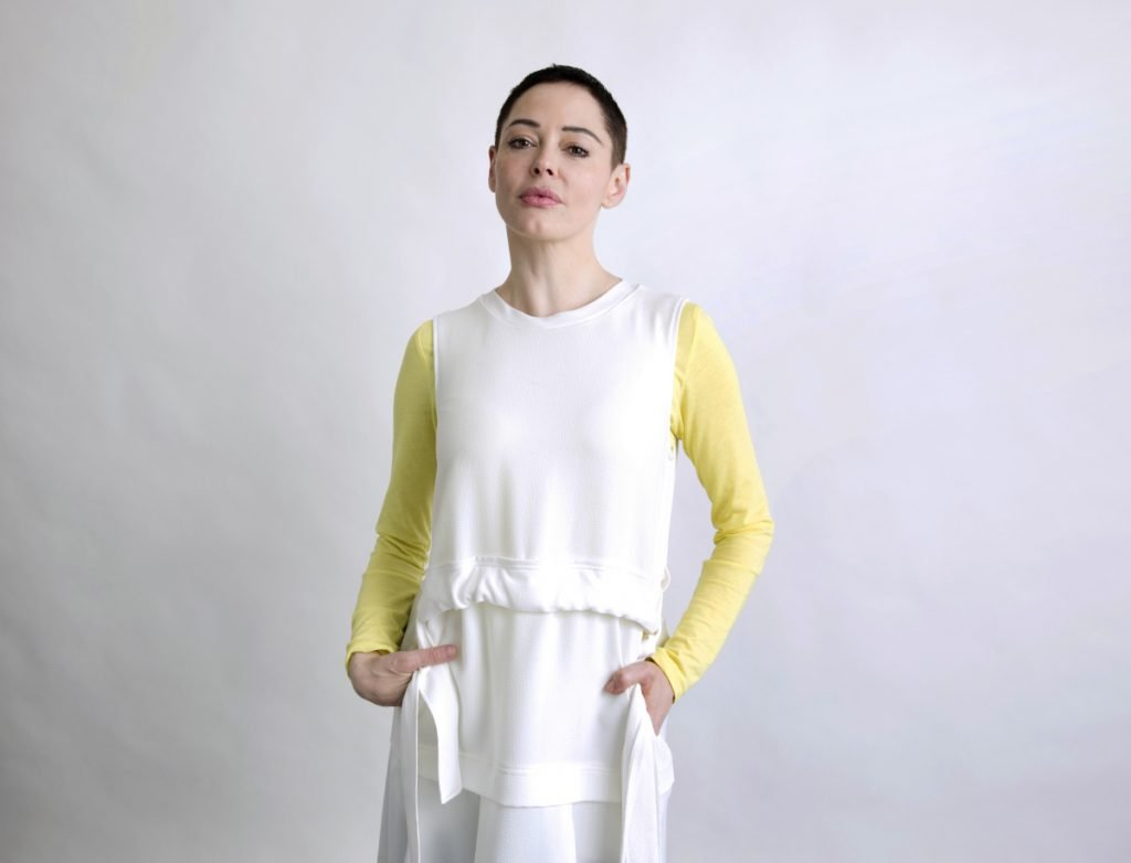 Rose McGowan promotes her book