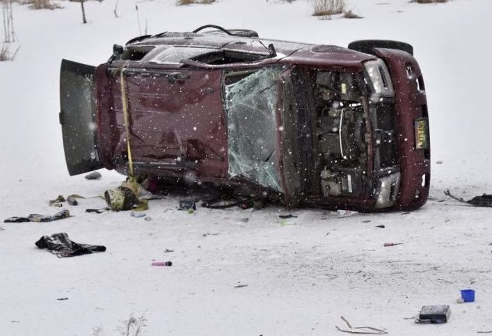 Desiree Strout, 27, of Canaan died from her injuries after her SUV hit black ice on Route 2 in Skowhegan and overturned.