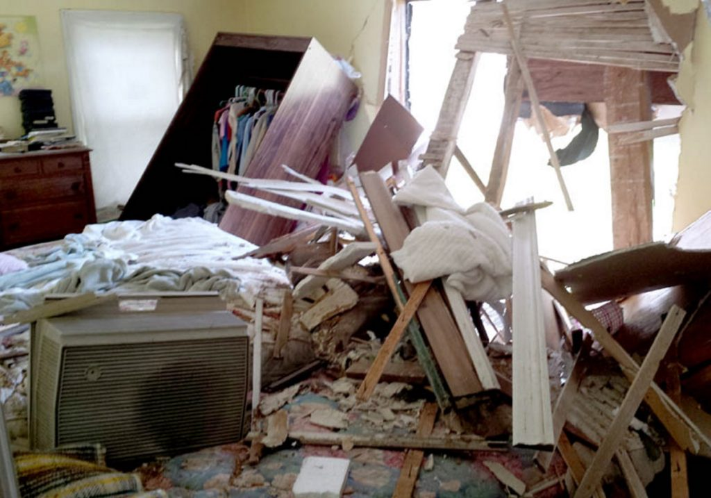 Jeffrey Faucher was asleep in his Belgrade home Oct. 10, 2013, when an Oldsmobile crashed through his bedroom wall.