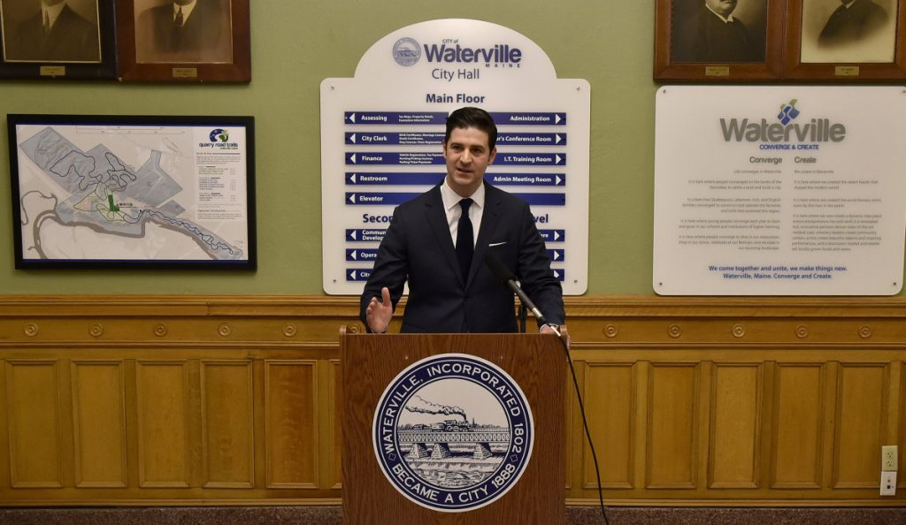 Waterville Mayor Nick Isgro spoke about what he sees as critical issues facing the state of Maine before announcing he will not be a Republican candidate for governor during a press conference at Waterville City Hall on Monday.