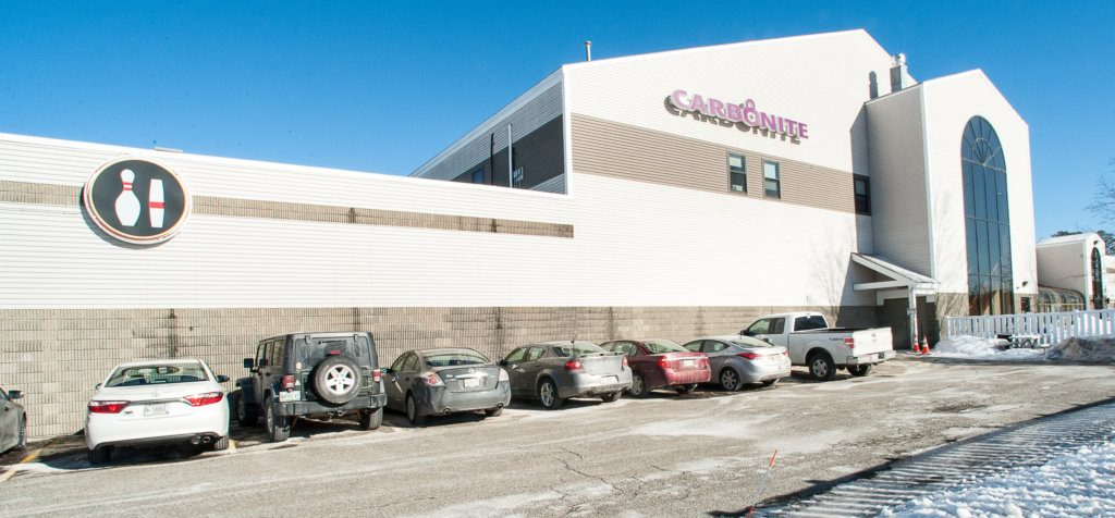 Carbonite's offices on Mollison Way in Lewiston. The company says as it loses workers here, it is hiring replacements, as needed, at a Jamaican call center. The company employs half as many people in the Lewiston office as it did three years ago.