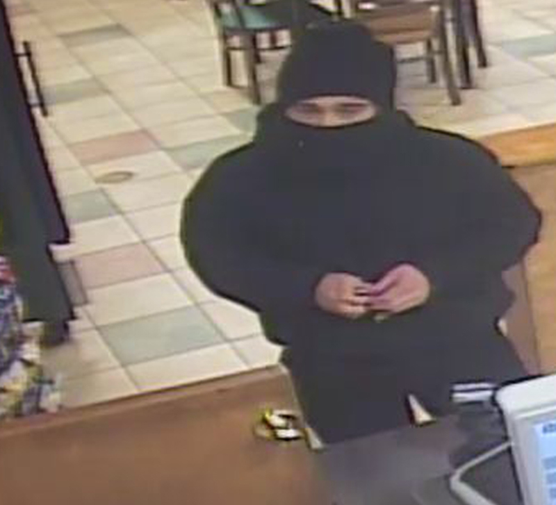Robbery suspect caught on surveillance video of the Subway sandwich store on Brighton Avenue in Portland.