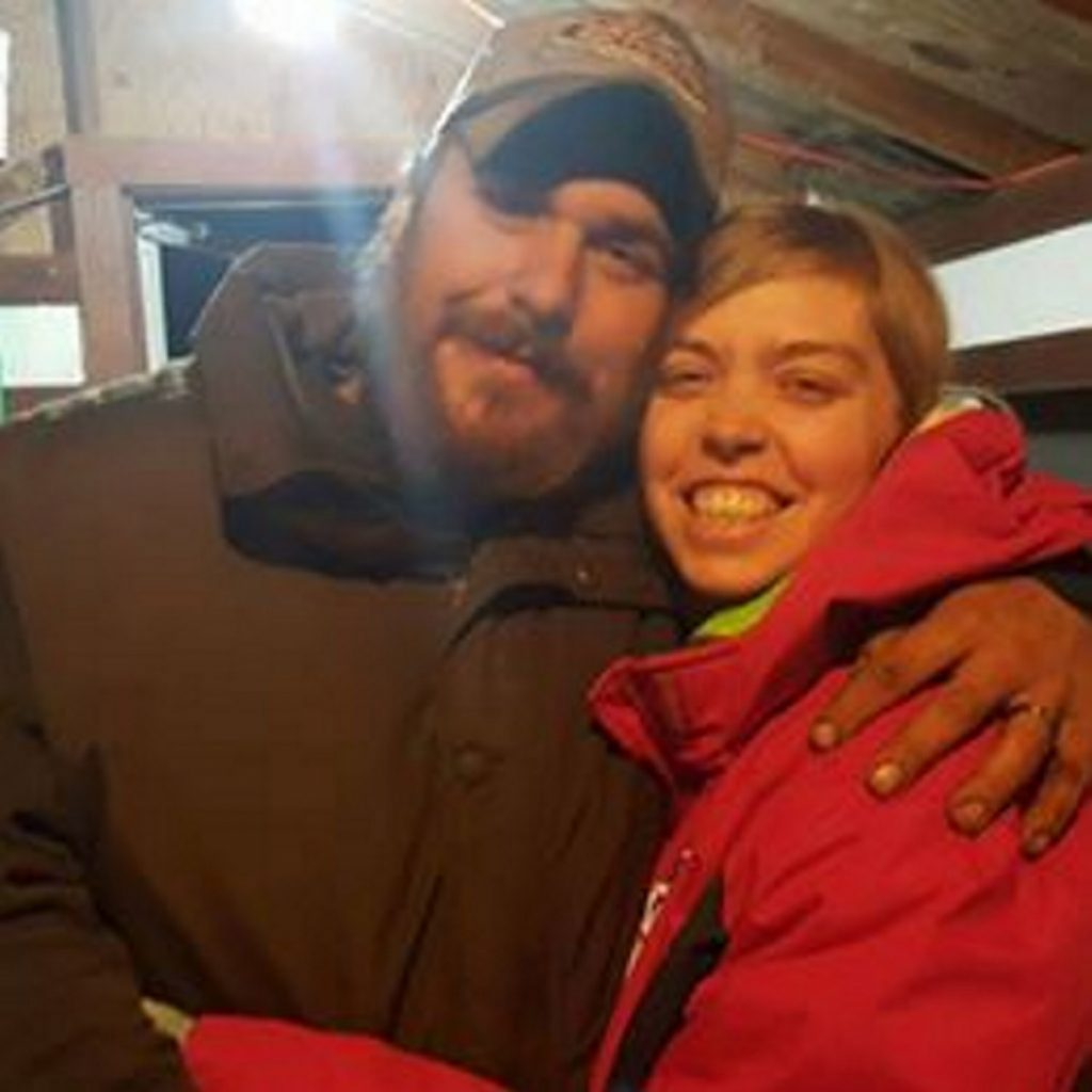 Harry Weeks and Desiree Strout in a recent photo. Nine months pregnant, Strout was on her way to Redington-Fairview Hospital to be induced when the vehicle she was driving hit black ice and she lost control of it. She died in the ambulance transporting her to the hospital. Weeks suffered a punctured lung and a lacerated liver.