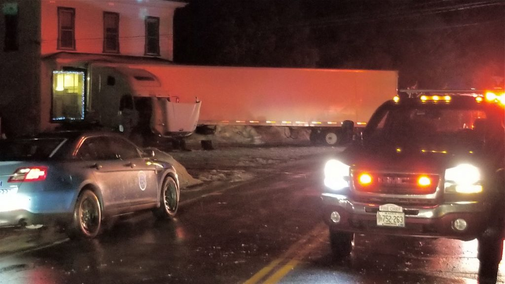 The crash scene in Alfred Tuesday night on Route 202.