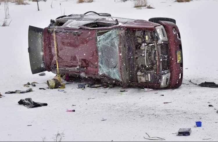 A pregnant woman died from her injuries when her SUV hit black ice on Route 2 in Skowhegan and overturned.