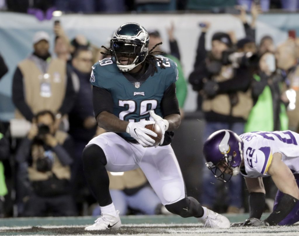 LeGarrette Blount, now with the Philadelphia Eagles, will seek Sunday night to become the leading rusher for winning Super Bowl team for the third time in four years. But his total in two title-game victories with the New England Patriots was a mere 71 yards.