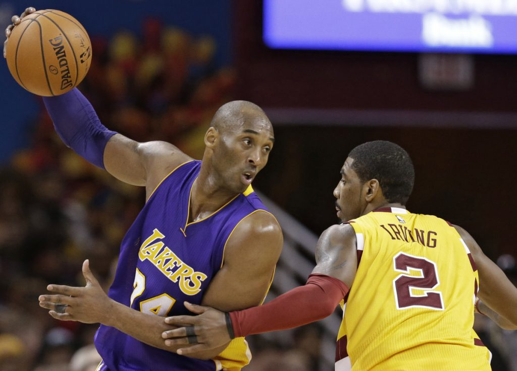 Kyrie Irving, right, sought out Kobe Bryant for advice this summer when Irving learned he might get traded to the Phoenix Suns. Irving has tried to follow the example set by Bryant, who proved it was OK not to blend in, but to stand out.