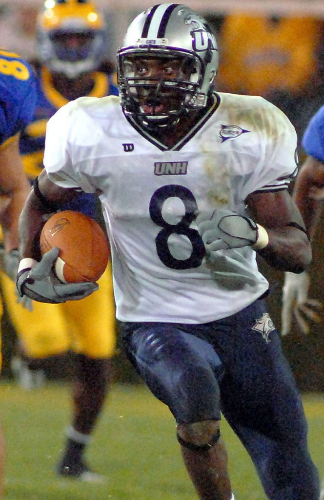 Corey Graham, in his days returning kicks at UNH, is now a safety for the Eagles.