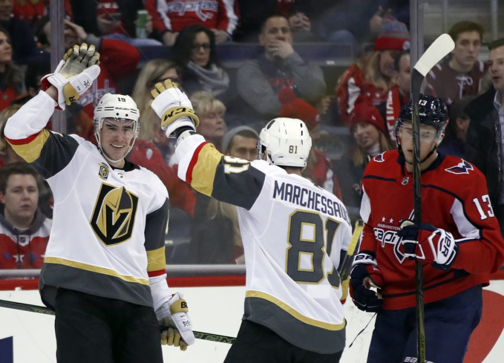 f6ff61ac84e Sunday s NHL roundup  Golden Knights rally past Capitals - Portland ...