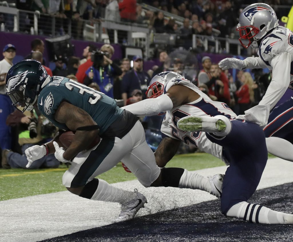 There was also a question whether Corey Clement completed the catch for a touchdown in the first half, but replay confirmed the called. The NFL catch rule will be rewritten this offseason.