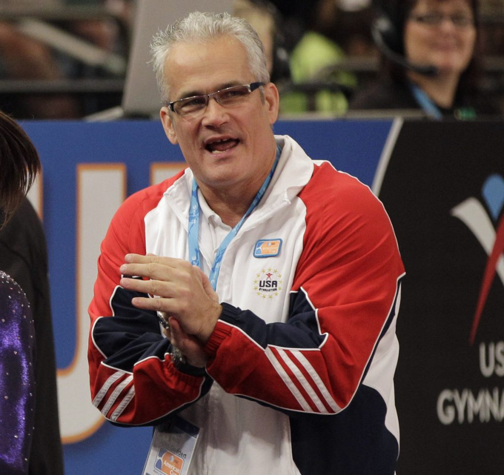 Gymnastics coach John Geddert is being accused of knowing Larry Nassar had performed an 'inappropriate procedure' on a minor in the late 1990s and that he was also physically abusive. Associated Press/Kathy Willens
