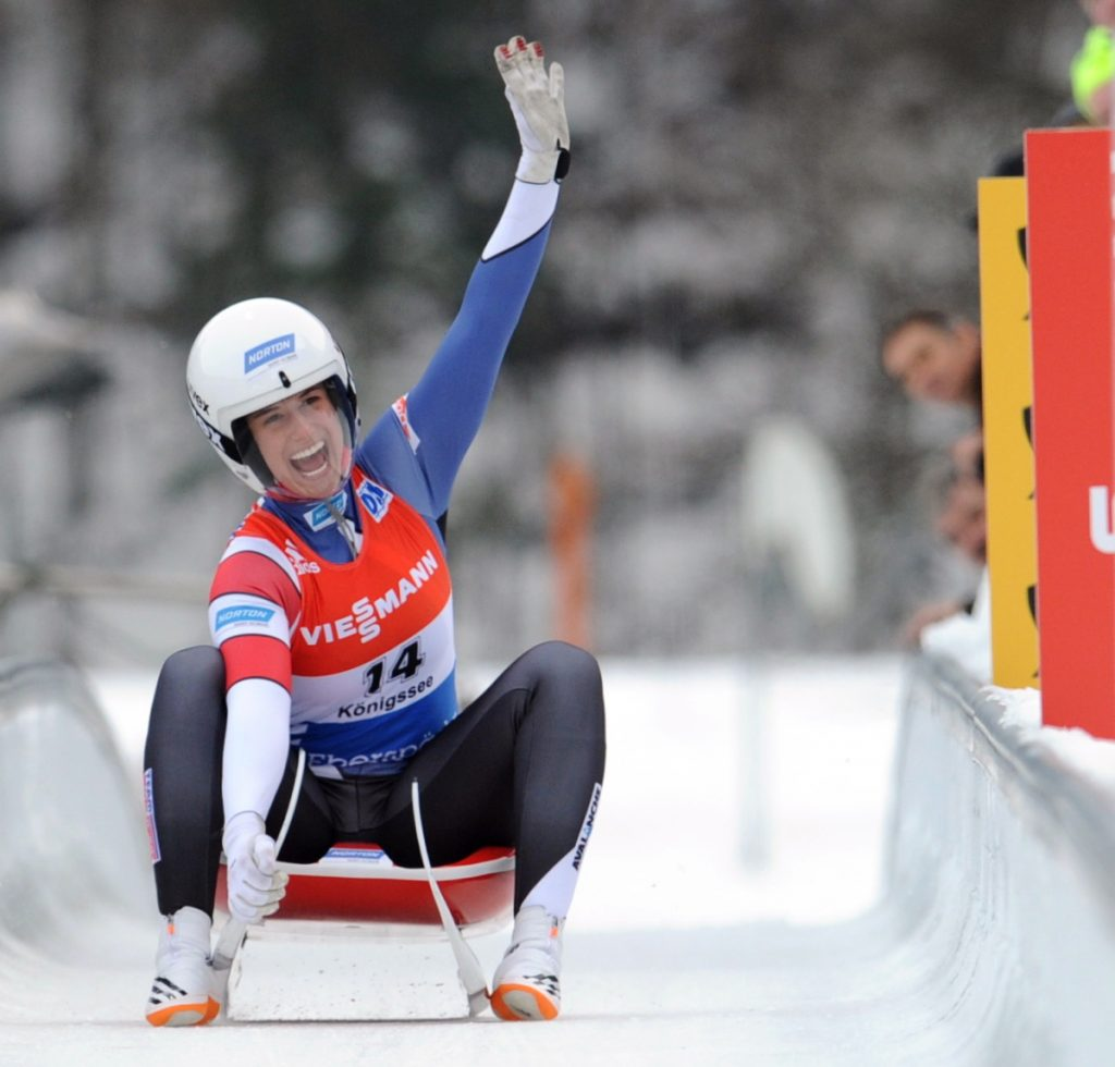 Emily Sweeney, who was born in Portland, won a luge gold medal on the World Cup tour in 2017. Her sister, Megan, competed in the 2010 Winter Olympics.