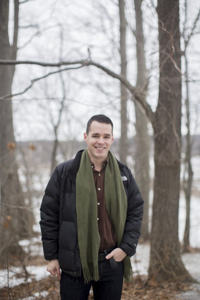 Andrew Bossie near the Fore River Trail in Portland. Bossie developed a serious hiking obsession while working in Augusta. Among his favorite spots in Maine is Traveler Mountain in Baxter State Park.