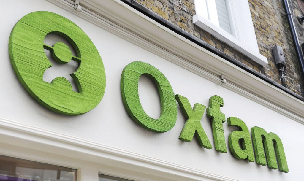 An Oxfam store in London is shown as the government is reviewing its relationship with the charity in the wake of sex allegations against some of the charity's staff.