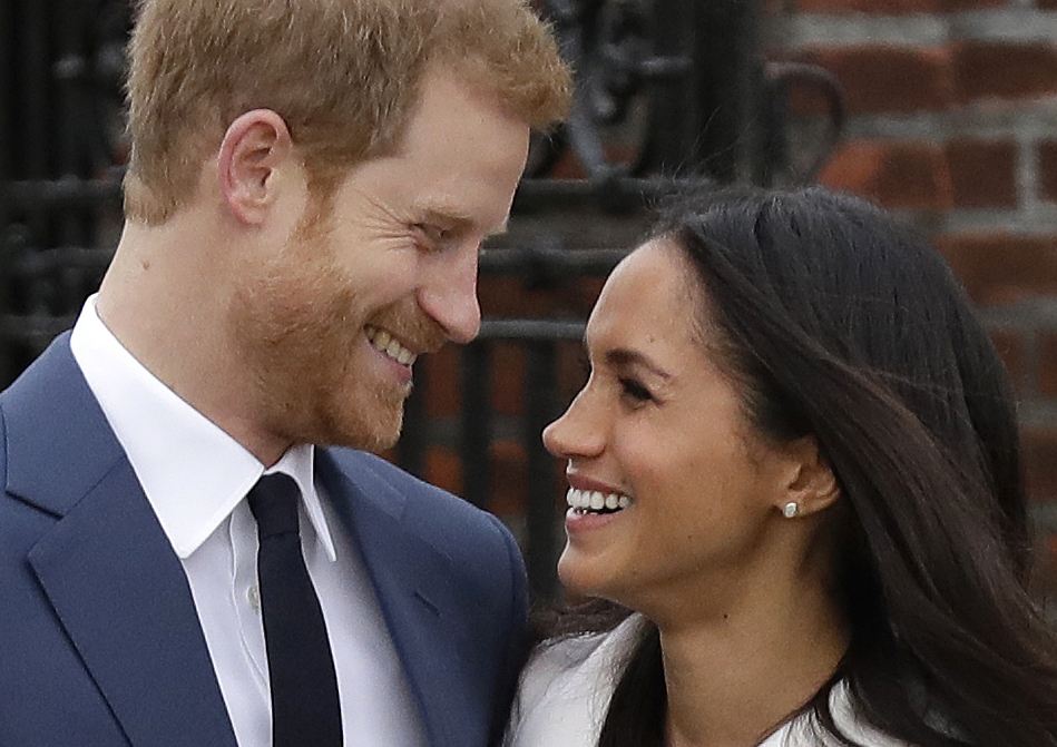 Prince Harry and his fiancee, Meghan Markle, pose for photographers in November after the announcement of their engagement.