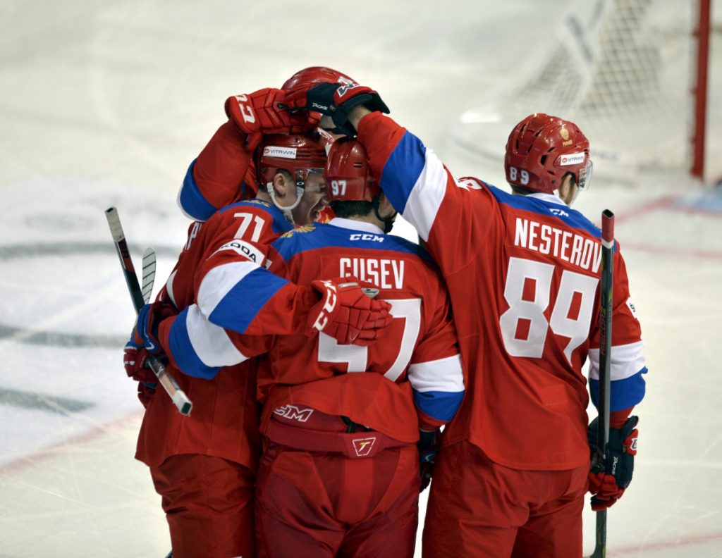 Nikita Gusev, a star in the Kontinental Hockey League, and Nikita Nesterov, a former NHL defenseman for the Lightning and Canadiens, are among the leading players for a Russian team favored to win Olympic gold.