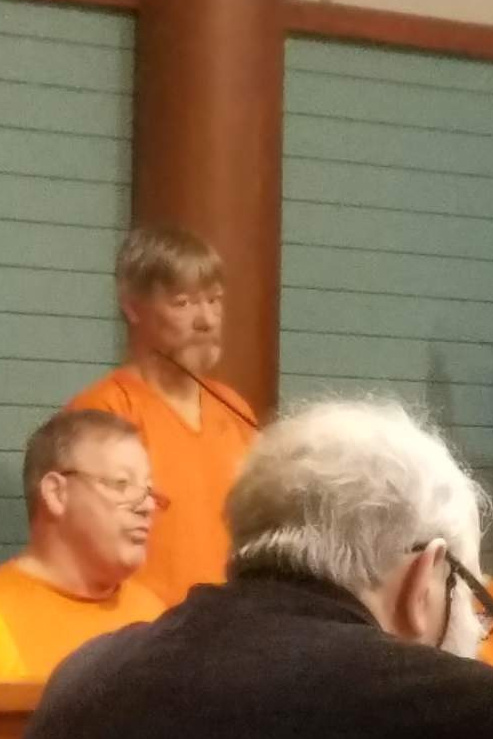 Timothy St. Thomas, standing, made his initial appearance Monday in Knox County Unified Court.