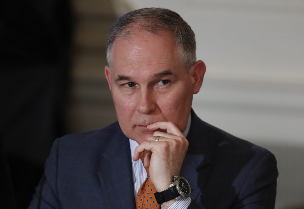 Scott Pruitt photographed at the White House on Feb. 12.