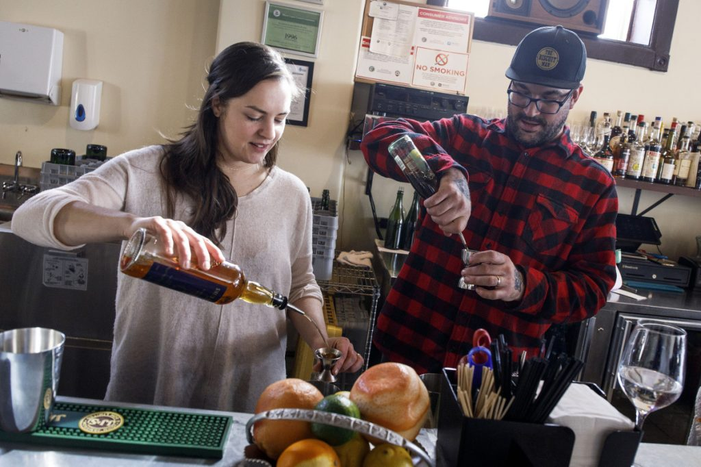 Married couple Valerie Szafranski and Mike Simmons, owners of Cafe Marie-Jeanne in Chicago's Humboldt Park neighborhood, haven't experienced any employee relationships that have gone wrong, but try to make awareness a part of their workplace policy.