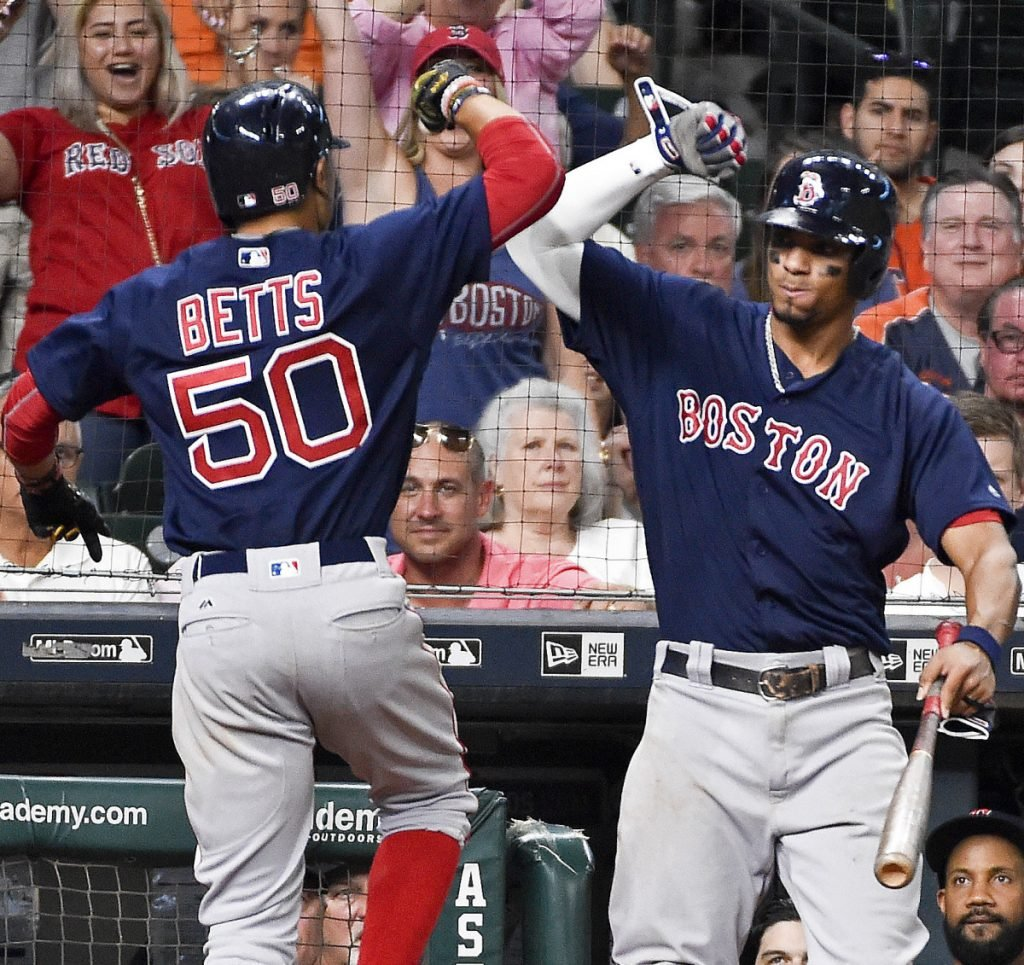 Mookie Betts won his arbitration case with the Red Sox and will earn $10.5 million this season. Betts has three more years before free agency and could cost Boston plenty more in the next few years.