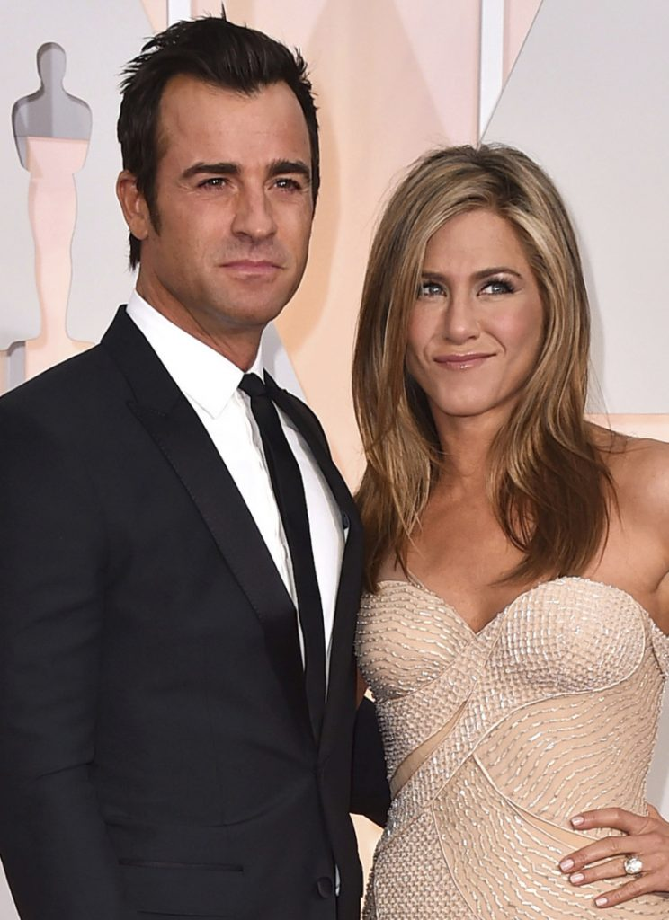Justin Theroux and Jennifer Aniston announced in a statement Thursday that they have separated.