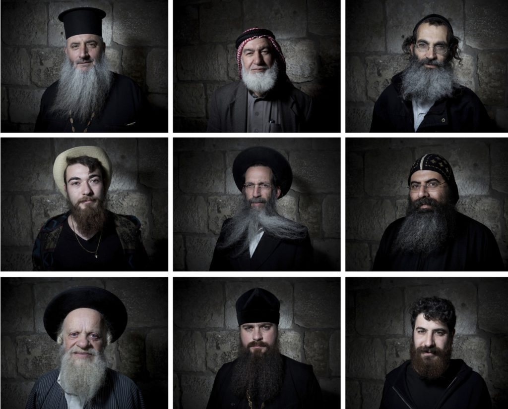 Men pose for portraits in Jerusalem's Old City. In Jerusalem, beards have never gone out of style, and can sometimes reflect political sentiments as well as religious leanings.