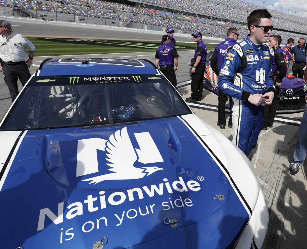 Yes, that's the No. 88 car, but not Dale Earnhardt Jr. will not be racing in Sunday's Daytona 500. It will be Alex Bowman, who won the pole position during qualifying.