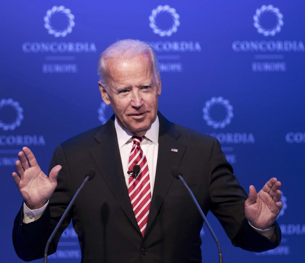 Former Vice President Joe Biden is hinting at a potential run in 2020, even raising the possibility during a recent gathering.