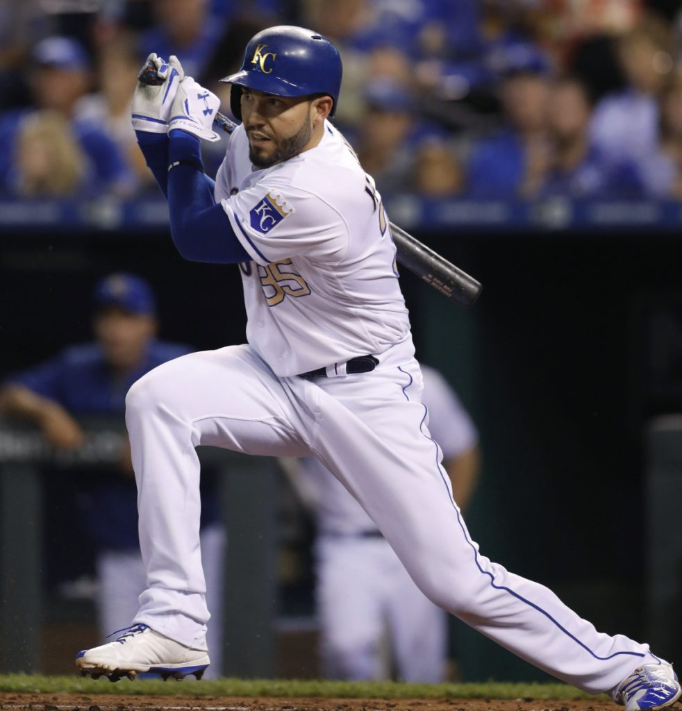 According to a person with a knowledge of the deal, free agent first baseman Eric Hosmer will join the San Diego Padres an eight-year, $144 million contract.