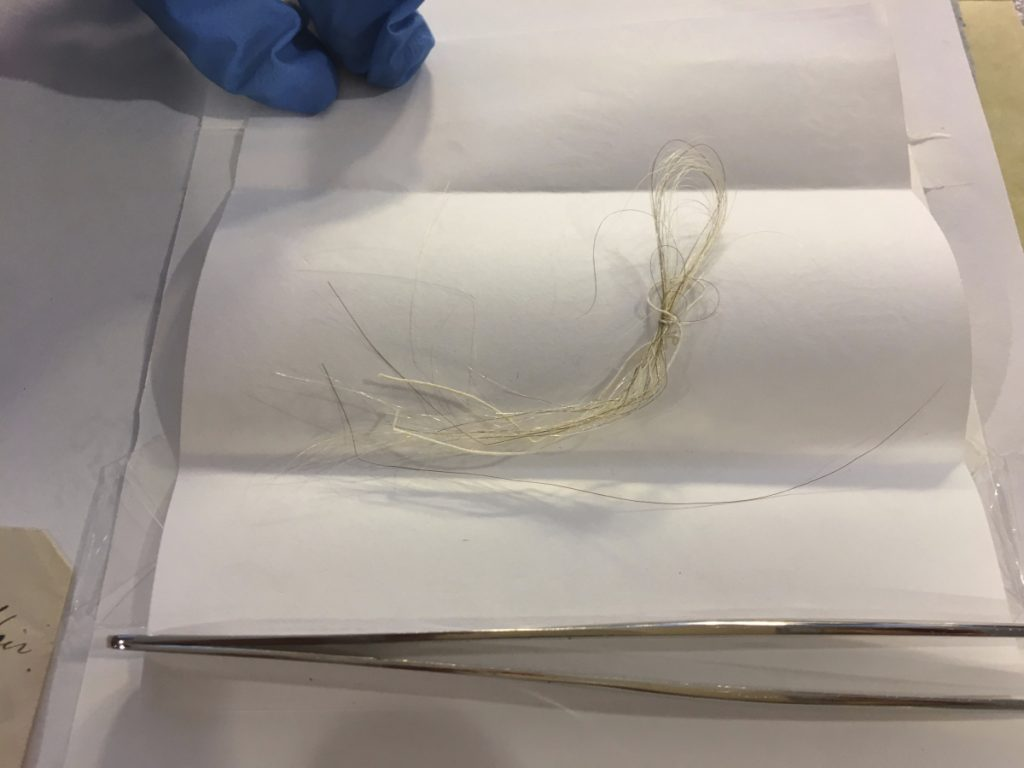 By George, that could be the first president's hair discovered in an envelope tucked in an old book at Union College.