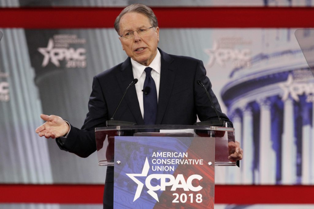 "National Rifle Association Executive Vice President and CEO Wayne LaPierre, speaking at the Conservative Political Action Conference at National Harbor, Md., last week, called for Americans to ""harden our schools"" by posting armed guards and arming teachers."