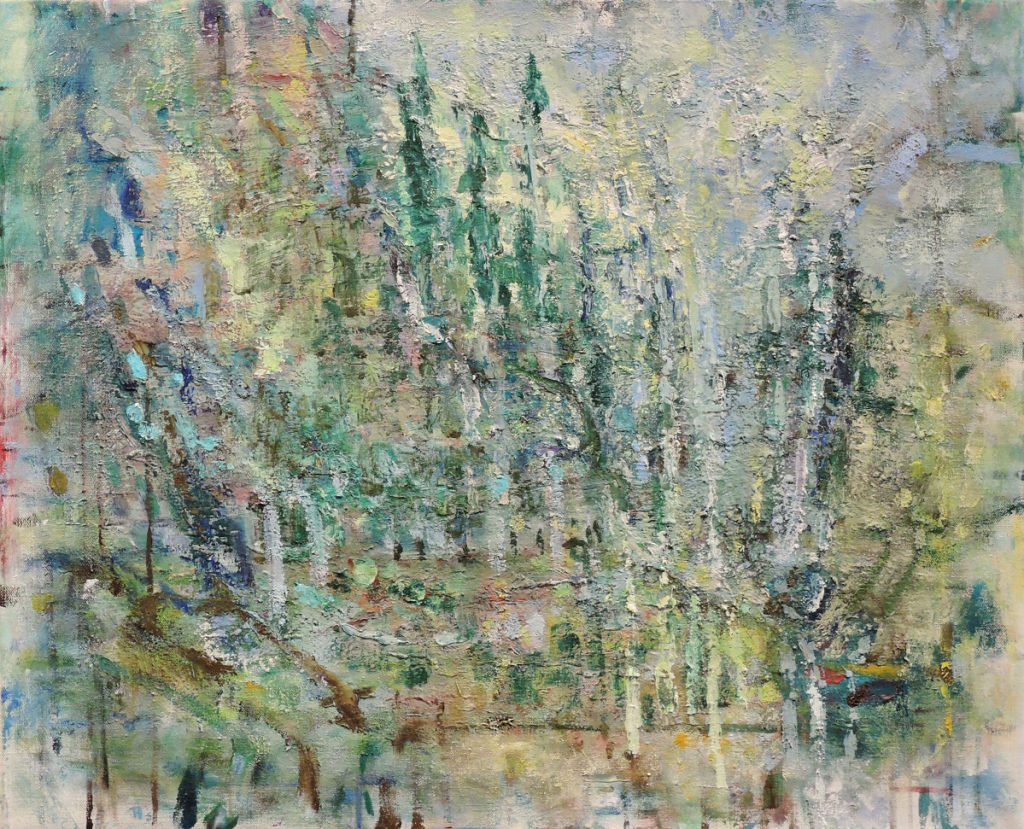 """In the Mountains,"" 2008, oil on linen."