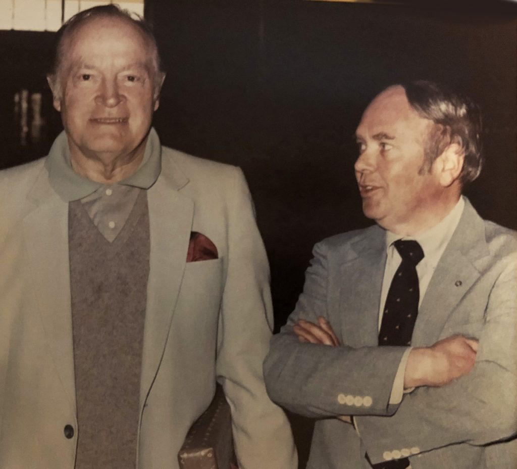 Robert Cole appears with entertainer Bob Hope.