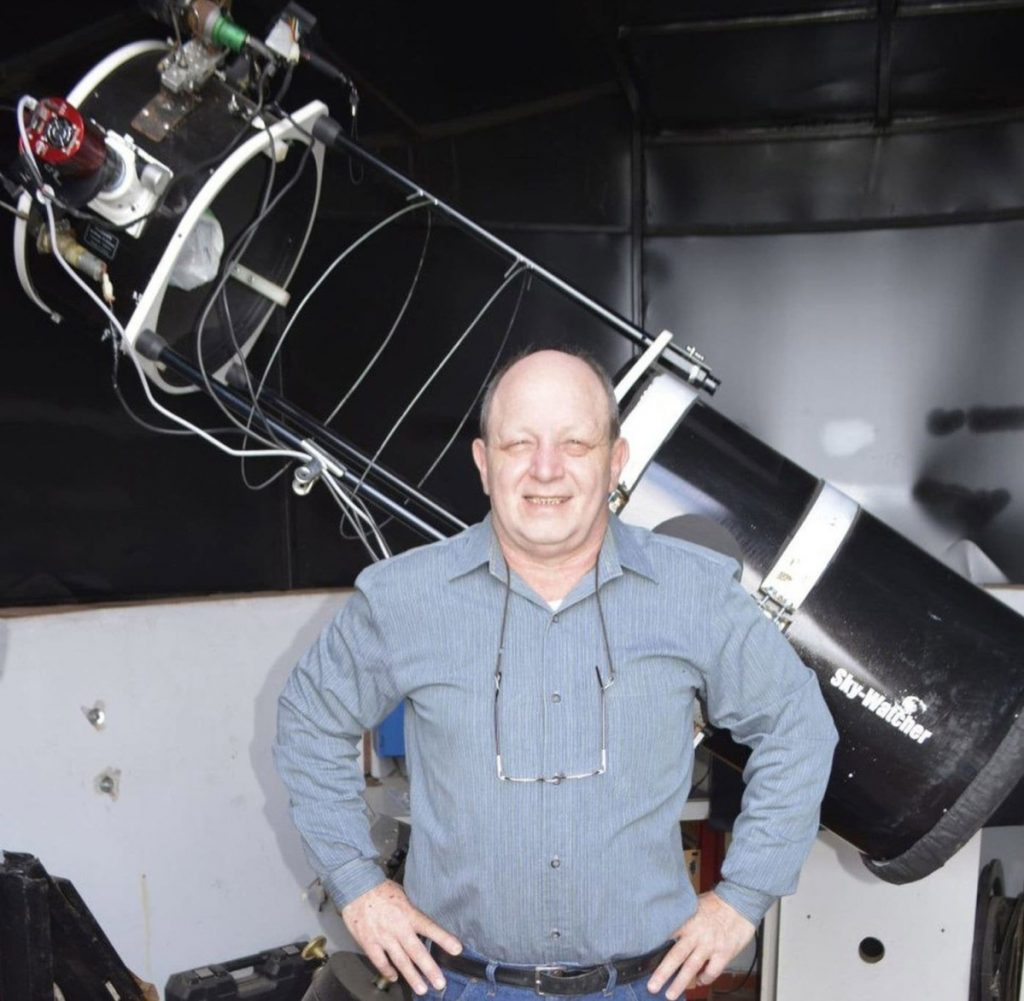Astronomer Victor Buso, who began building telescopes at age 11, captured the birth of a supernova.