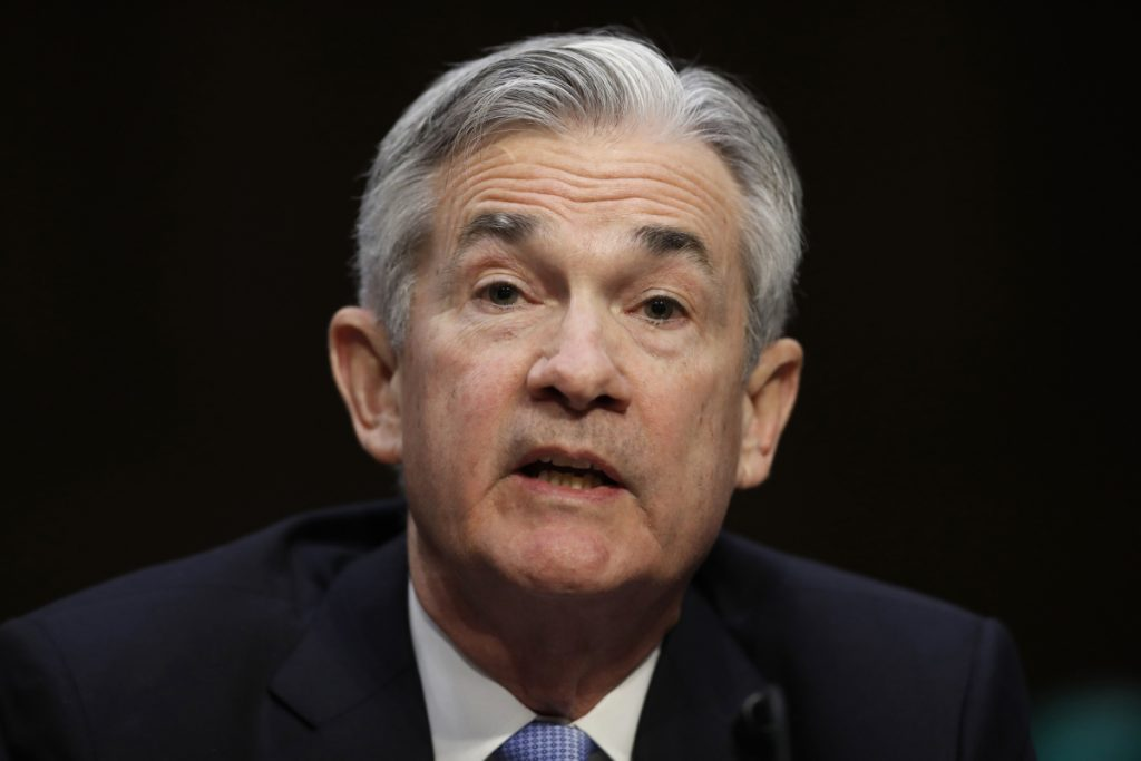 Federal Reserve Chairman Jerome Powell gave an upbeat assessment of the U.S. economy Tuesday to Congress.