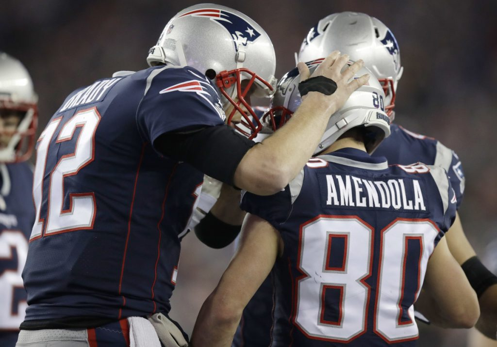 Danny Amendola discusses free agency, state of the Patriots at Bryant University