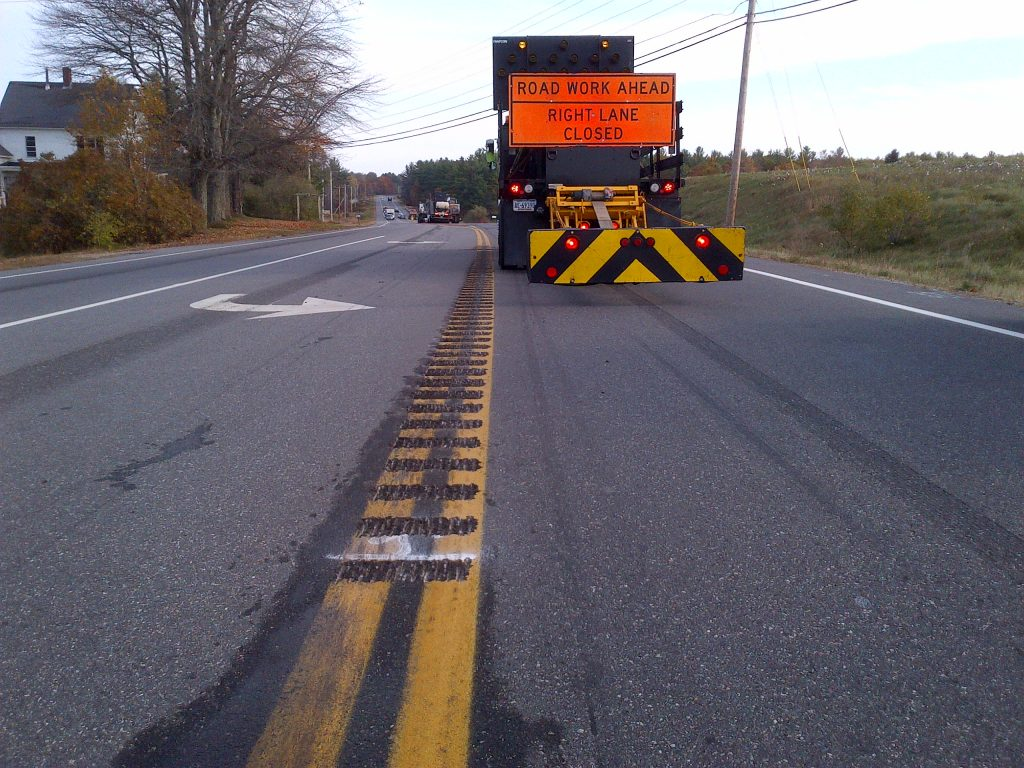 The Maine DOT's 2018 transportation safety efforts include continued addition of rumble strips – a total of more than 200 miles from 2017-2019