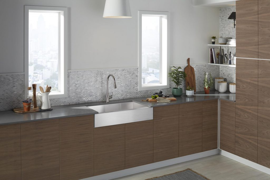 Stainless is the most popular sink material, according to the National Kitchen and Bath Association.