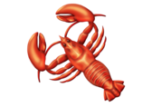 The lobster emoji, missing a pair of legs.