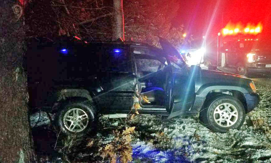 Gregory Cote's SUV just off of South Waterboro Road Lyman.