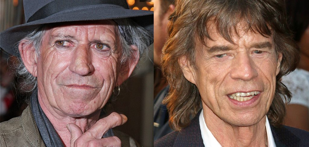 Keith Richards and Mick Jagger, both 74, are founding members of the Rolling Stones.