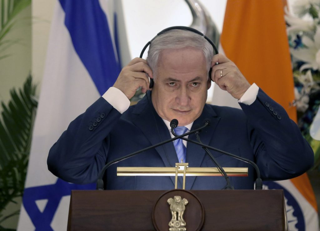 Israeli Prime Minister Benjamin Netanyahu is scheduled to arrive in the United States on Monday and will meet with President Trump at a policy conference.