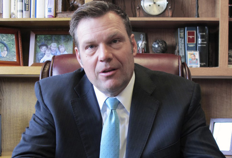 Kansas Secretary of State Kris Kobach is defending a requirement that people provide a birth certificate or passport at the time they register to vote.