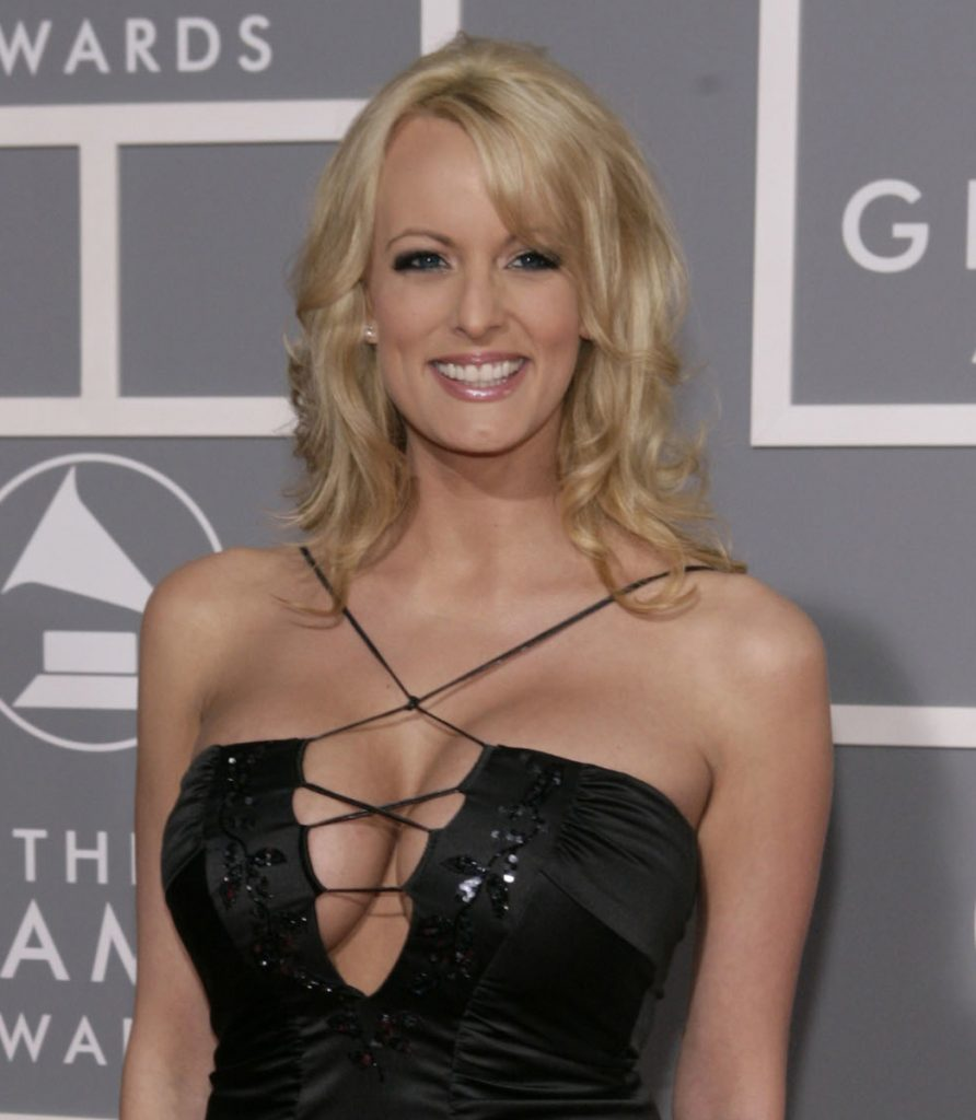 Stormy Daniels arrives for the Grammy Awards last month in Los Angeles.