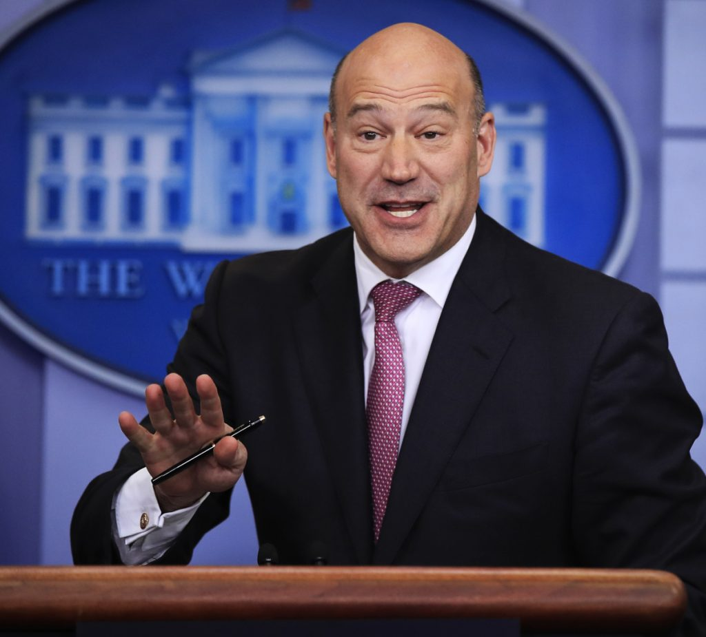 Gary Cohn, top economic adviser, is leaving the White House after breaking with President Trump. He was a key proponent of free trade, balancing protectionist advisers.
